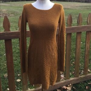 Anthropologie Knitted Knotted Alpaca Sweater Dress